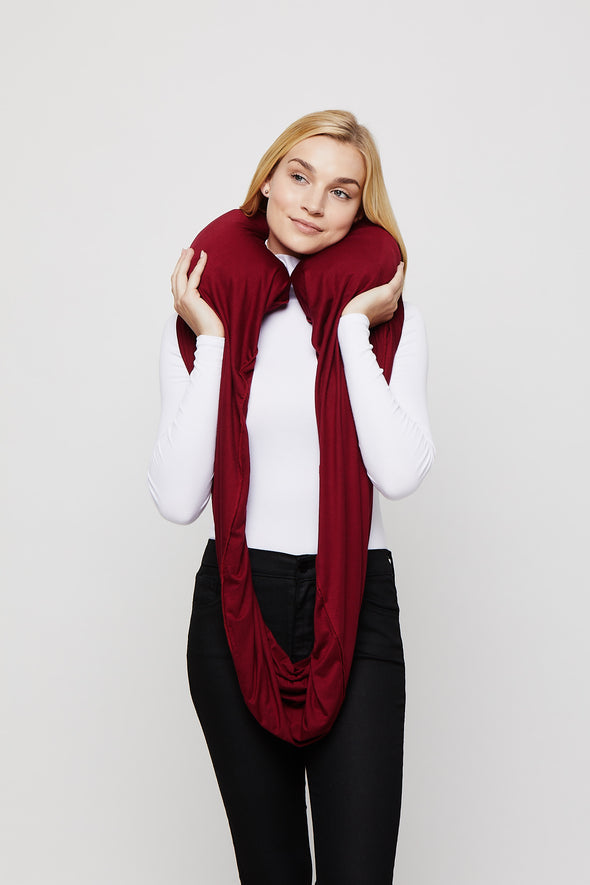 Cranberry Sleeper Scarf inflated