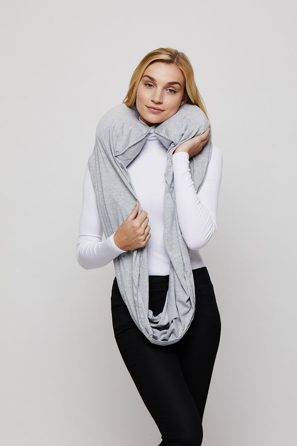 Heather Grey Sleeper Scarf inflated