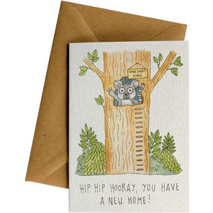 New Home Lemur - New Home Card