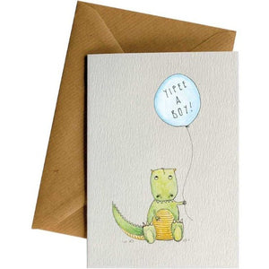 Yippee a Boy - Welcome Baby Card