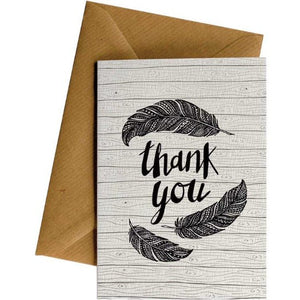 Thank You Feathers - Thank you Card