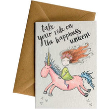 Load image into Gallery viewer, Happiness Unicorn - Kids Card