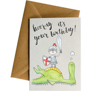 Hooray Dragon - Kids Birthday Card
