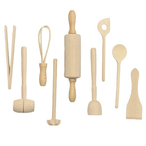 Wooden Kids Cooking Set 9 Piece