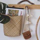 Olli Ella Hanging Book Basket wicker hanging storage basket