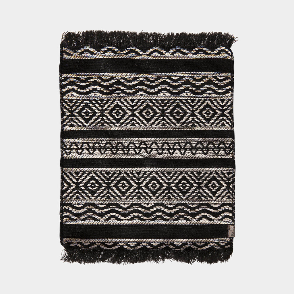 Maileg black and white woven rug