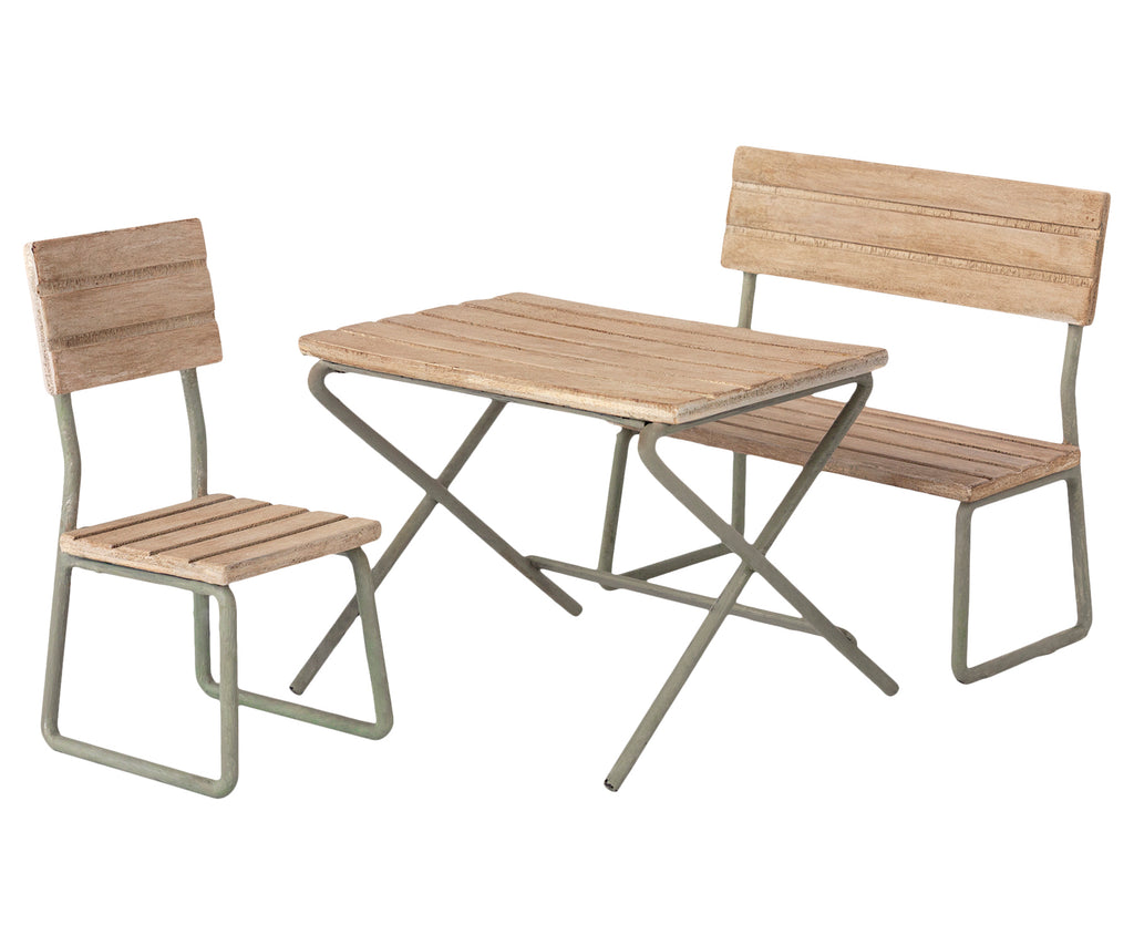 Maileg Garden Set - Table with Chair and Bench