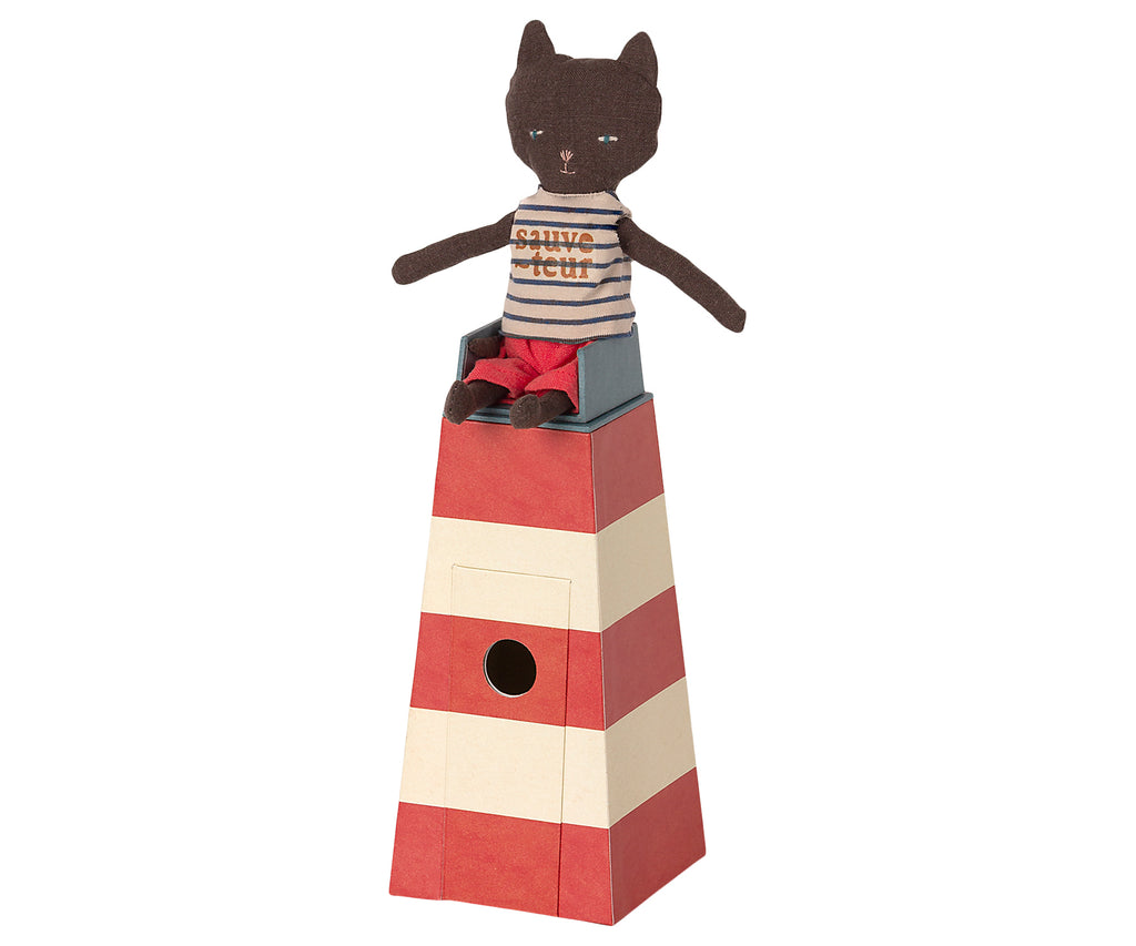 Maileg Sauveteur, Tower with Cat