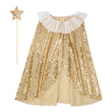 Meri Meri - Gold Sparkle Cape Costume