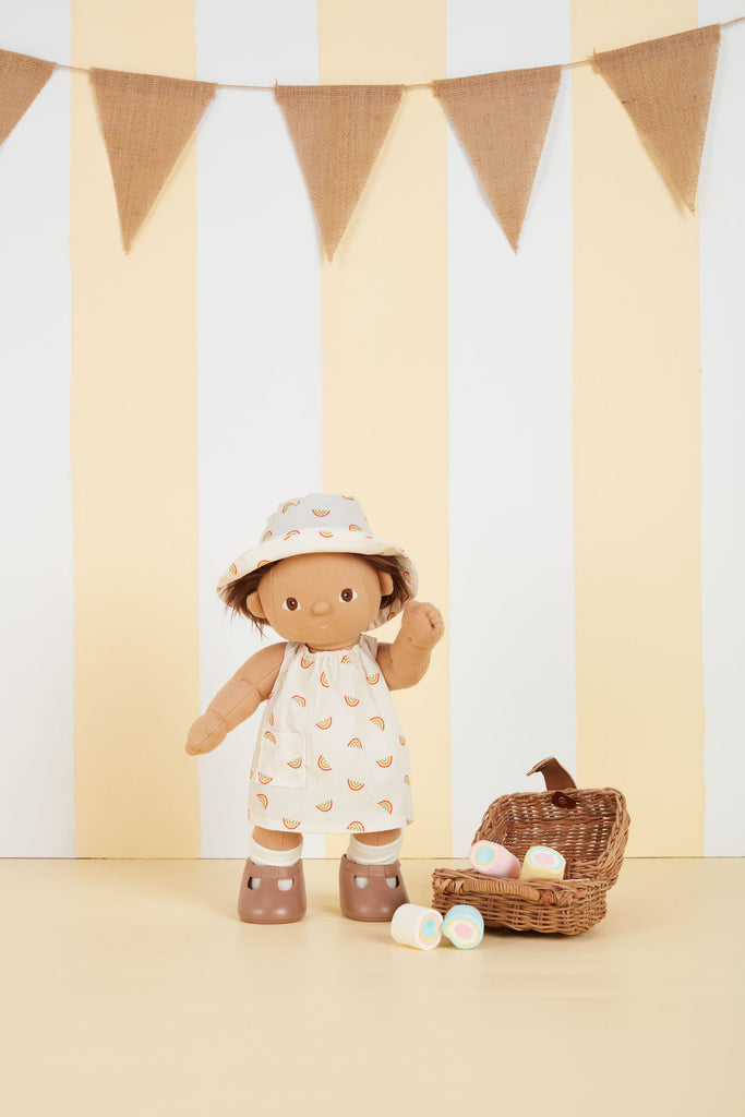 Olli Ella Dinkum Doll Cotton Una Rainbow Set - Ivory