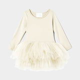 I Love Plum B.F.F. Tutu Dress - Pearl Ivory