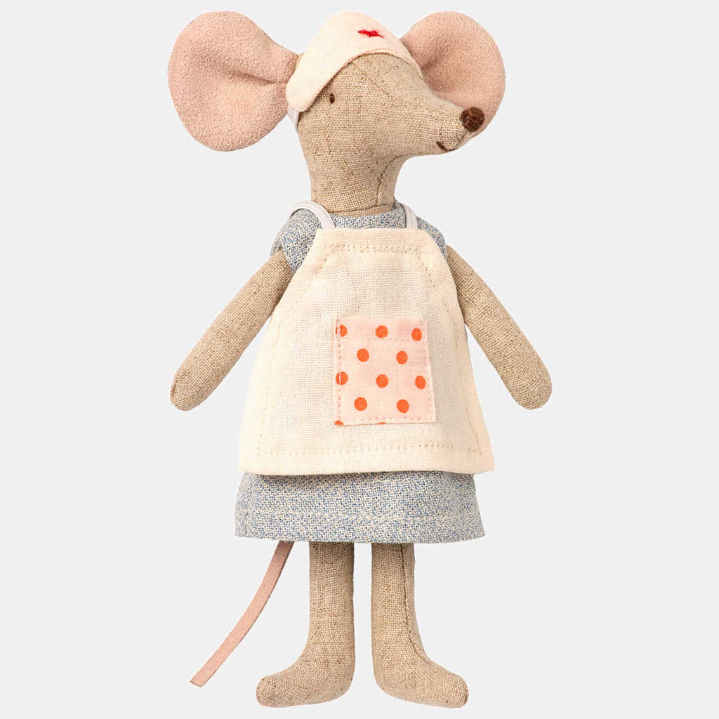 Maileg Nurse Mouse - Maileg Mice wearing a cute little nurses uniform. Perfect gift for children with mums who work as nurses in the NHS