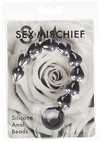 Black Silicone Anal Beads Sex & Mischief SS10074