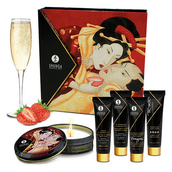 Geisha Sparkling Strawberry Wine Shunga SH8208