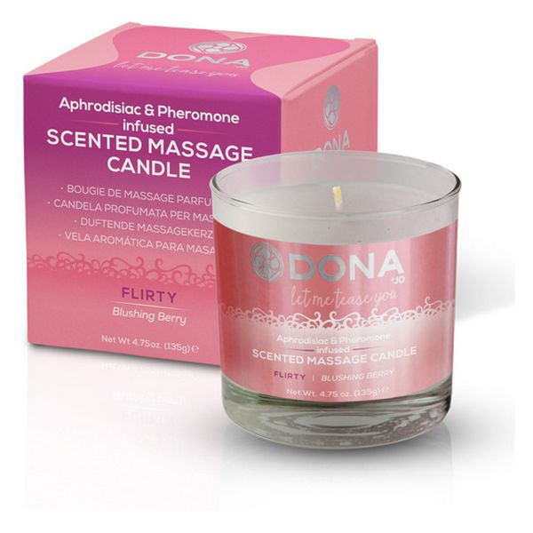 Scented Massage Candle Blushing Berry 225 ml Dona D40556