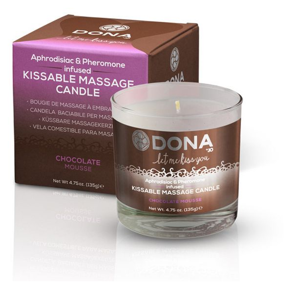 Kissable Massage Candle Chocolate Mousse Dona 5666 - skintantric