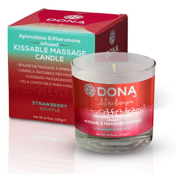Kissable Massage Candle Strawberry Soufflé Dona 5680 - skintantric