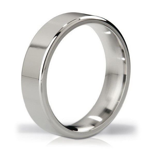Duke Polished Steel Love Ring Mystim - skintantric