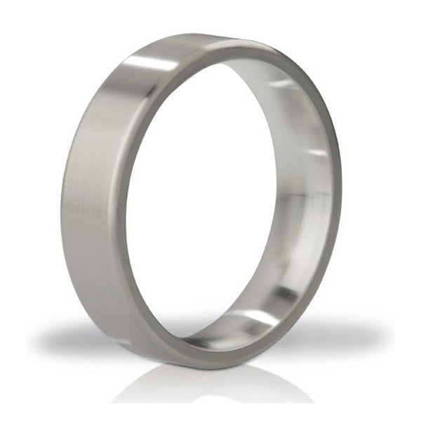 Duke Brushed Steel Love Ring Mystim - skintantric