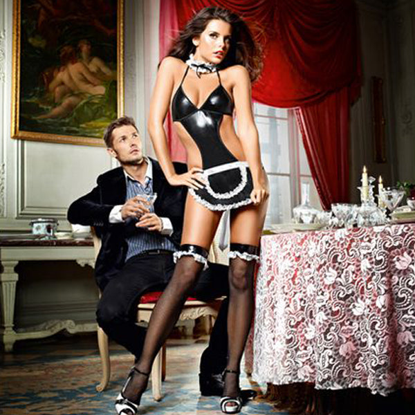 At Your Service French Maid Set One Size Baci Lingerie E25254 - skintantric