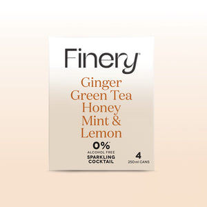 0% Alcohol Free Sparkling Cocktail - Ginger Green Tea Honey Mint & Lemon
