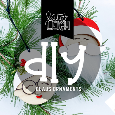 DIY Mr. and Mrs. Claus Ornaments