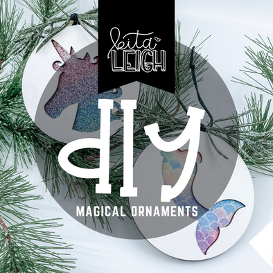 DIY Magical Cutout Wood and Leather Ornaments