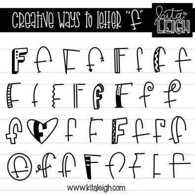 Creative Ways to Letter 'F'