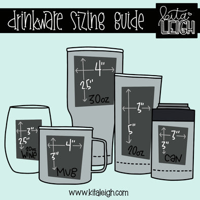 Drinkware Sizing Guide