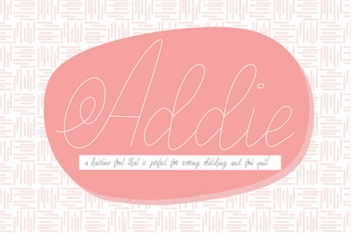 Addie Hairline Font, Scoring, Sketching, Foil Quill