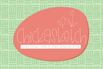 ChickASketch Hairline Font, Scoring, Sketching, Foil Quill