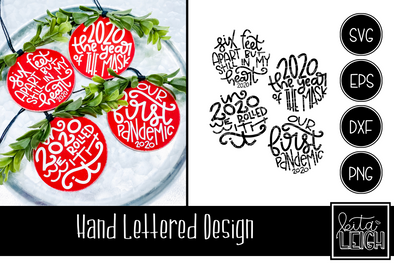 Hand Lettered Christmas 2020 Rounds 1 SVG