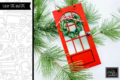 Christmas Door Ornament Laser SVG