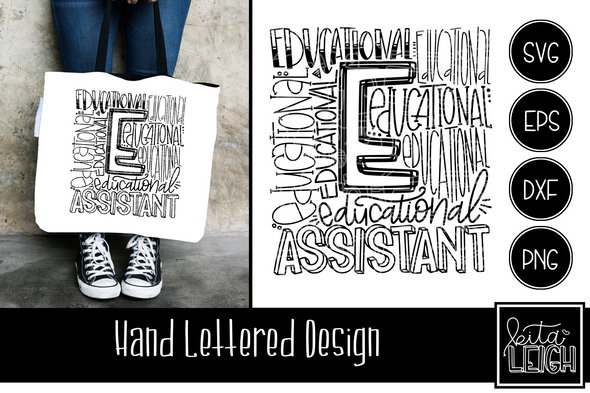 Educational Assistant Typography