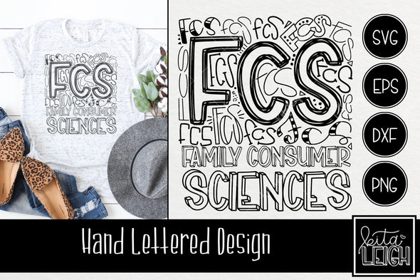 FCS Family Consumer Sciences Typography