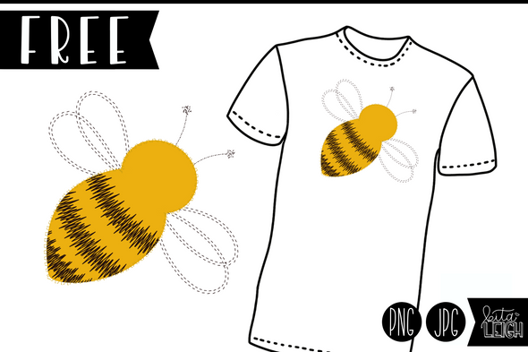 FREE Bee Png/Jpg for Sublimation