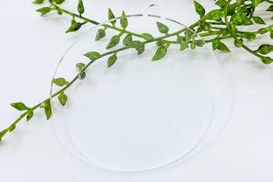"3"" Clear Acrylic Ornament Blank"