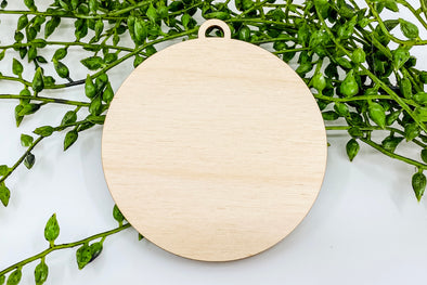 "3"" Wooden Ornament Blank"