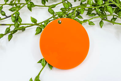 "Orange 2"" Acrylic Keychain Blank"