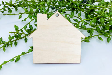 "2.25"" Wooden House Blank"