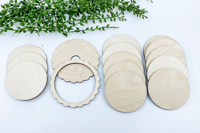 Interchangeable Wooden Round Blank Set