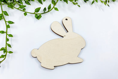 "3"" Wooden Easter Bunny Profile Blank"