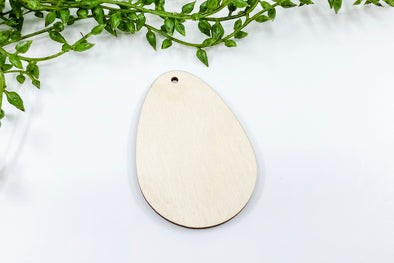 "2.75"" Wooden Easter Egg Blank"