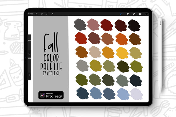 Fall Procreate Color Palette Swatch
