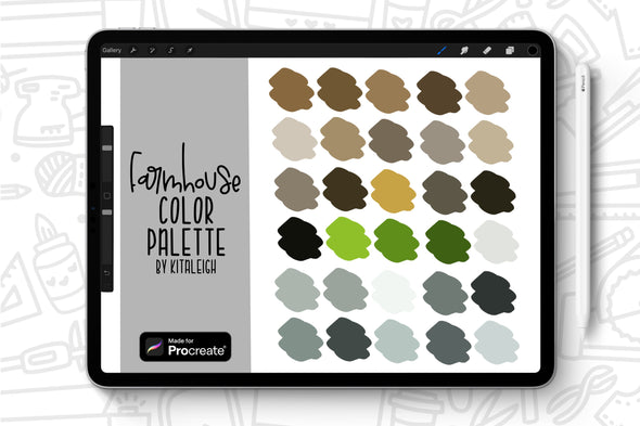 Farmhouse Procreate Color Palette Swatch