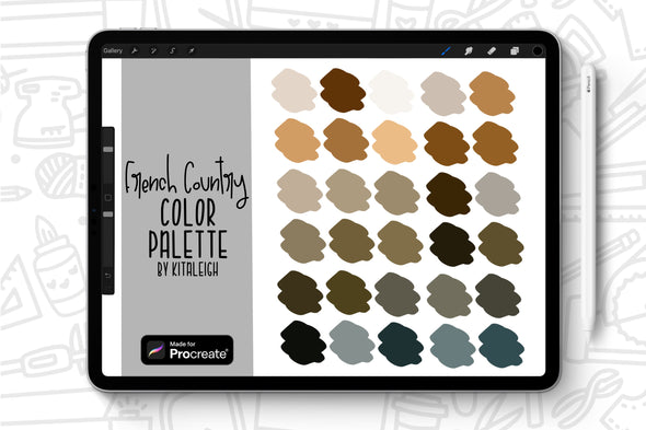 French Country Procreate Color Palette Swatch