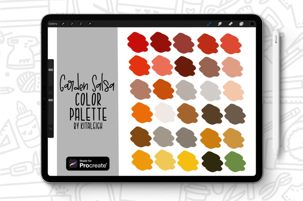 Garden Salsa Procreate Color Palette Swatch