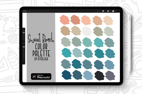 Sweet Beach Procreate Color Palette Swatch