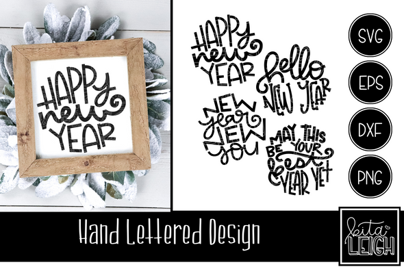 Hand Lettered New Year Rounds