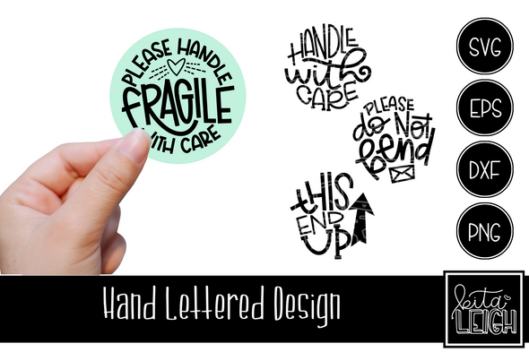 Mailer Care Hand Lettered Rounds